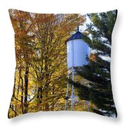 Water Tower Throw Pillow by Kathy DesJardins