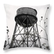 Water Tower Throw Pillow by Michael Grubb