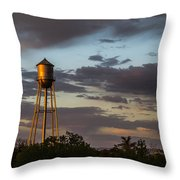 Water Tower Nm Throw Pillow