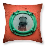 Water Tower Reflection Throw Pillow
