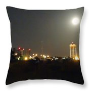 Water Tower Town At Night Throw Pillow