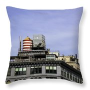 Water Tower View Throw Pillow