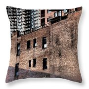 Water Tower With Cityscape Throw Pillow