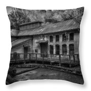 Water Treatment Plant Throw Pillow