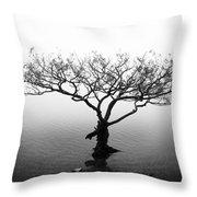 Water Tree Throw Pillow