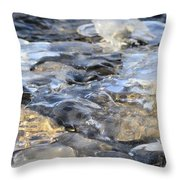 Water Under Ice Throw Pillow