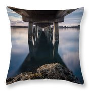 Water Under The Pier Throw Pillow