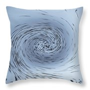 Water Vortex Throw Pillow