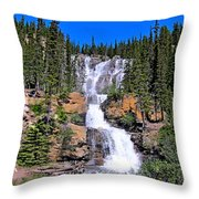 Water Water And More Water Hence Waterfall Throw Pillow
