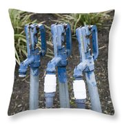 Water Water Water In Blue Throw Pillow