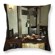 Water Well Table Throw Pillow