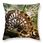 Water Wheel Throw Pillow by Marty Koch
