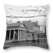 Water Works In Black And White Throw Pillow