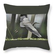 Waterbird Flying Throw Pillow
