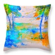 Watercolor 45314012 Throw Pillow