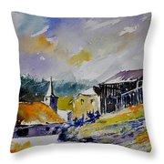 Watercolor Baillamont Throw Pillow