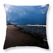 watercolor Beach Throw Pillow