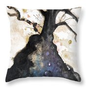 Watercolor Branches Throw Pillow by Tara Thelen