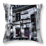 Watercolor Cluny In Paris Throw Pillow