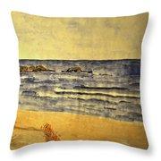 Watercolor Coast 2 Throw Pillow