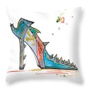 Watercolor Fashion Illustration Art Throw Pillow