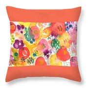 Watercolor Garden Throw Pillow
