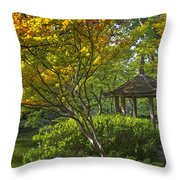 Watercolor Gardens Throw Pillow