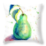 Watercolor Illustration Of Pear  Throw Pillow