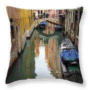 Watercolor In Venice Throw Pillow