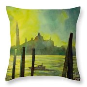 Watercolor Painting Of The Dome Of San Giorgio Maggiore Church I Throw Pillow