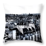 Watercolor Paris With Eiffel Throw Pillow