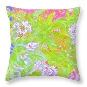Bouquet Of Flowers Watercolor Photography Throw Pillow