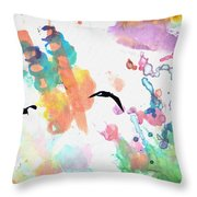 Watercolor Seagulls Throw Pillow