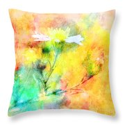 Watercolor Wildflowers - Digital Paint Throw Pillow