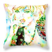 Watercolor Woman.3 Throw Pillow