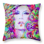 Watercolor Woman.32 Throw Pillow