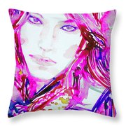 Watercolor Woman.33 Throw Pillow