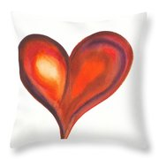 Watercolour Painting Of Colorful Abstract Heart Throw Pillow