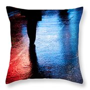 Times Square Watercolours Throw Pillow
