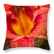Watered Lily Throw Pillow
