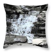 Waterfall 3 Throw Pillow