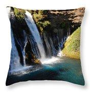Waterfall And Rainbow 4 Throw Pillow