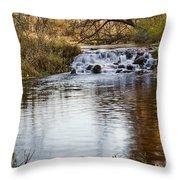 Waterfall At Bonneyville Throw Pillow