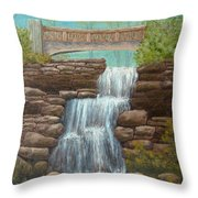 Waterfall At East Hampton Throw Pillow