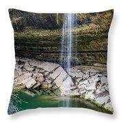 Waterfall At Hamilton Pool Throw Pillow
