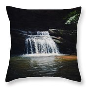 Waterfall At Table Rock National Forest Throw Pillow