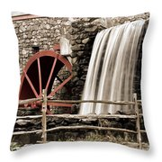 Waterfall At The Mill Throw Pillow