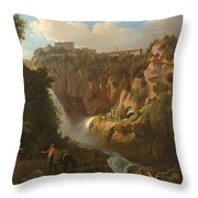 Waterfall At Tivoli Throw Pillow