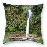 Waterfall Bridge Throw Pillow