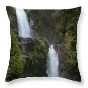 Waterfall, Chile Throw Pillow